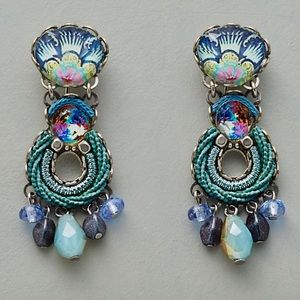 Catalina Earrings with Swarovski crystals